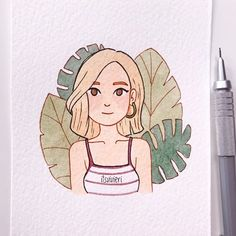 I just recently discovered 's challenge. And even though I'm super late but I think this'll be super fun so here you go. My take on the first prompt: Tropical, Short Hair and Gold Hoops✨ Girl Drawing Sketches, Cool Art Drawings, Easy Drawings, Drawing Tips, Pencil Drawings, Cute Art Styles, Cartoon Art Styles, Arte Sketchbook, Marker Art