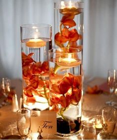 Fall Wedding Centerpiece Ideas | take on leaves as a centerpiece. Filling the mason jar with fall ...