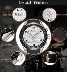 CURREN 8167 Silicone Strap Sport Quartz Watch Watch 2, Watch Case, Watch Bands, Men Watch, Silica Gel, Waterproof Watch, Crown, Watches Online, Quartz Watch
