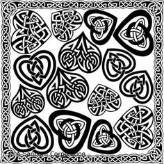 Three Leaf Clover With Celtic Knot Vinyl Decal Clover Decal Celtic