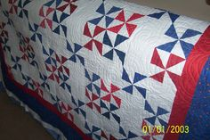 Another Quilt of Valor quilt quilted for a customer in Texas (the date is wrong).