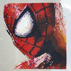 Spiderman perler pixel art by ddralson