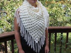 Шаль крючком Виноград Обвязка и кисти шали Ч.5 Crochet shawl grapes Edge border - YouTube