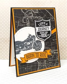 Stampin' Up! One Wild Ride. Masculine Card. Going Places DSP