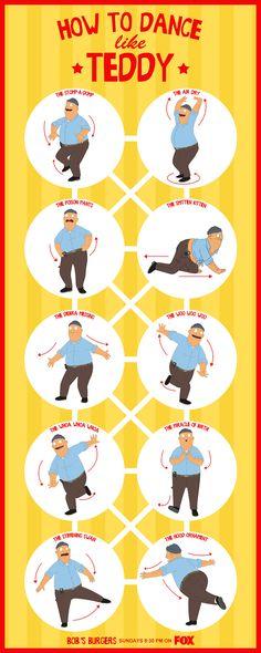 Behind Bob's Burgers: How to dance like Teddy.