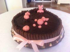 #pigsonthemudcake #boloporquinhosnalama #pigcake