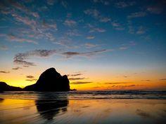 Sunset at Piha Beach