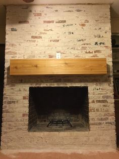 German Schmear on red brick fireplace. Nice instructions and before & after pix