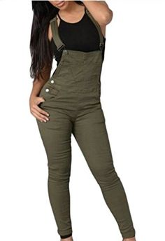 865aa55f31 YUNY Women Button High Waisted Strappy Slim Fitted Solid Color Jumpsuit 1 S