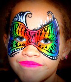 Rainbow face paint mask