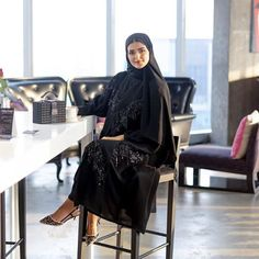 Hello There From Wdoha Abaya By By Algalah Heels And Bag From Zara Abaya Fashion Abaya Modest Fashion