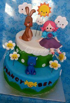 Liludori cake inspired from Cartoon Cake Village work