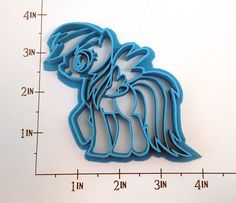 "My Little Pony Rainbow Dash Cookie Cutter - she saw this on my board and said ""Oh mama! I want that for my birthday!"" :-) Maybe a horse theme. :-)"