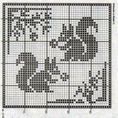 Fall Cross Stitch, Cross Stitch Borders, Cross Stitch Animals, Cross Stitch Designs, Cross Stitching, Cross Stitch Embroidery, Cross Stitch Patterns, Crochet Applique Patterns Free, Filet Crochet Charts