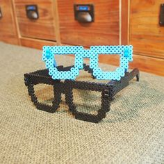 Glasses perler beads by spancall