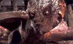 "Bilbo and Smaug gifs. "" I am almost tempted to let you take it, if only to see Oakenshield suffer, watch it destroy him, watch it corrupt his heart and drive him mad...But I think not. I think our little game ends here! """