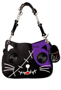 I found 'Banned - Cat Handbag with Speakers Black and Purple' on Wish, check it out!