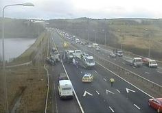 This Is Bradford - Local News Blog: BREAKING M62 currently closed to allow air ambulance to land after crash between three lorries near Huddersfield