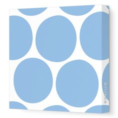 Blue Big Dots - Pattern Collection - Avalisa.com #bigdots #blue #bluedots #fun #design #decor #decoration #wallart #art #canvas #nursery #kids #kidsroom #room