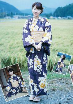 "October 18, 2015 AKB48 Yuki Kashiwagi ""Anatani"" on Young Jump Magazine, #KashiwagiYuki #Yukirin #kimono #elegence #jpop #magazine #beauty #TraditionalDress"
