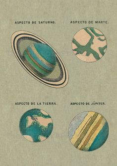 Astronomy Print Postert Solar System Planets Saturn Mars Earth Jupiter Vintage Image Wall Art by TheCuratorsPrints on Etsy Collage Mural, Photo Wall Collage, Picture Wall, Room Posters, Poster Wall, Poster Prints, Art Print, Look Wallpaper, Solar System Planets