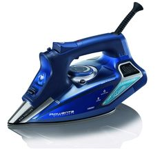 Rowenta Steam Force Professional Electronic Steam Iron with Stainless Steel Soleplate, Blue. For powerful steam and professional-quality results, turn to the Rowenta SteamForce steam iron. Steam Iron Reviews, Best Steam Iron, Rowenta Steam Iron, Linens And More, Palette, How To Clean Iron, Water Conservation, Steamer, Stainless Steel