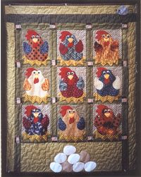 All Cooped Up Quilt Pattern -  pattern 4 sale