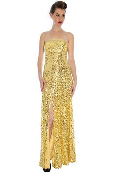 Elegant Split Sequin Film Star Dress £54.00 This dress is absolutely  stunning and when you f590aef77ba