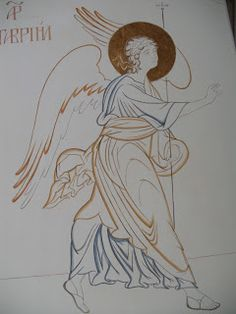 Racconti di un'iconografa contemporanea. Byzantine Art, Byzantine Icons, Religious Icons, Religious Art, Ozzy Tattoo, Order Of Angels, Stages Of Writing, Paint Icon, Black And White Design