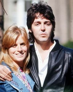 Is there a picture where there are not touching each other. Looks like they were truly soul mates!!!Linda Eastman-McCartney and Paul McCartney