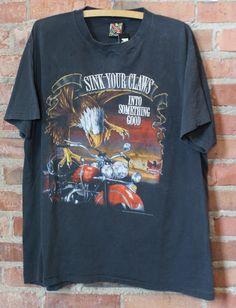 Vintage Emblem Graphic T Shirt Morris Motorcycle 1993 Large Xl