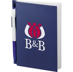 The Printed Baldwin Notebook comes in a large variety of great colors! Match with your school colors or to look great with your business logo! This is a paperback bound notebook with 100 ruled pages and a pen loop with matching ballpoint pen. Great for company retreats and school and college bookstores.