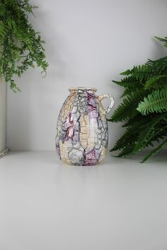 WEST GERMAN POTTERY, Scheurich 644 22,Iridescent West German Pottery, iridescent wgp, Mid Century Vase, Purple Vase.
