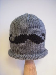 Knit Baby Hat Mustache Knitted Photo Prop by LittleBirdLucy, $23.99
