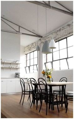my scandinavian home: Inspiring work space in a converted warehouse Converted Warehouse, Warehouse Loft, Warehouse Conversion, Pattern Wall, Industrial Living, Industrial Windows, Kitchen Industrial, Vintage Industrial, Interior And Exterior