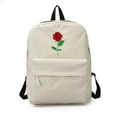6cb734805a5d8 Meloke 2018 nowe hafty różowe płótno plecak mody duży rozmiar torby szkolne  dla liceum casual torby
