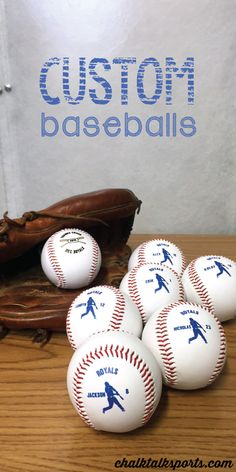 These custom baseballs are a great team gift for coach! Only at ChalkTalkSPORTS.com!