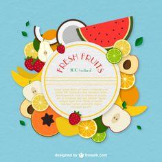 Frutas frescas etiqueta