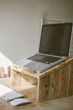 Pallet Wood Laptop Riser