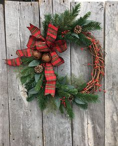 Winter Wreath Holiday Wreath Christmas Wreath Front Door