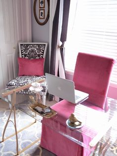 Home Office Pink Design, Pictures, Remodel, Decor and Ideas - page 10