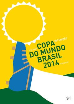 Digital Art - My 2014 World Cup Soccer Brazil - Rio Minimal Poster by Chungkong Art , Brazil World Cup, World Cup 2014, Fifa World Cup, Soccer Pro, Soccer Referee, Soccer Gear, Soccer Uniforms, Morgan Soccer, Soccer Tips