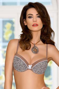 4bd9bc558a3 Nipplex Evita Push-up Bra with animal pattern #underwear #sexylingerie | |  OtherEden