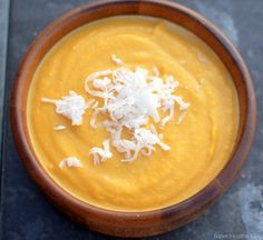 Sweet Coconut-Butternut Squash Crockpot Soup. @Kate Mckenna Woolley I'm leaving a butternut squash with my painting tomorrow. :)