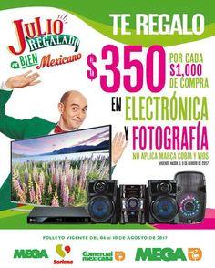 Esta semana aprovecha el nuevo folleto de Julio Regalado 2017 en tiendas Soriana, Comercial Mexicana y Mega con ofertas y promociones validas del 4 al...