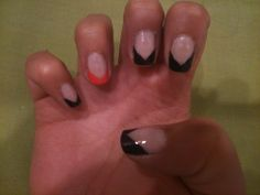 French nails with a little twist