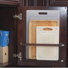 DIY Cutting Board Holder - Get Organzed in 2013 - Kitchen and Home Organization Tips and Ideas (photo from babble.com)