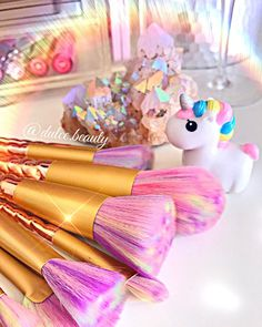 My Lovely Unicorn  shop our unicorn and mermaid brush sets  ( link on bio )