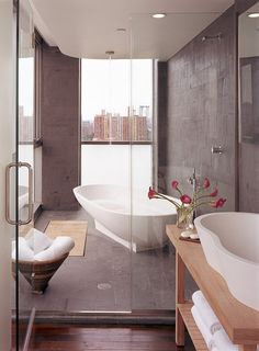 Elegant Bathroom - Hotel on Rivington  - for more inspiration visit http://pinterest.com/franpestel/boards/