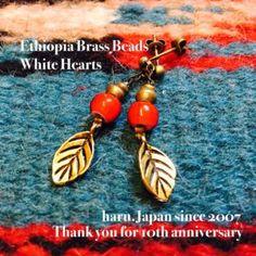 Ethiopia+brass beadsWhite HeartsOrisa